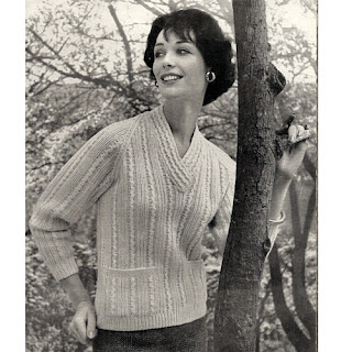 Pullover Sweater Knitting Pattern with patch Pockets