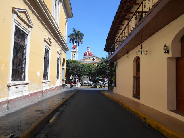 The streets of Granada in Nicaragua