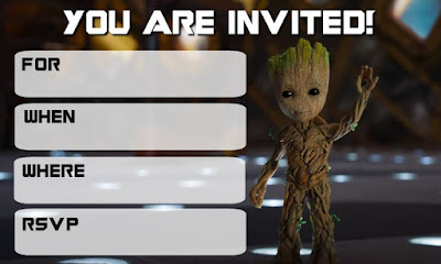 free printable guardians of the galaxy invitations