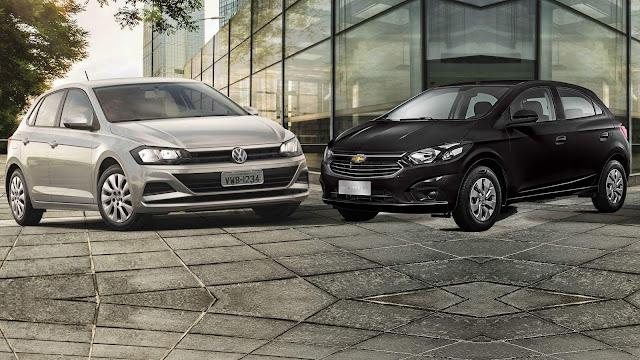 Chevrolet Onix 2018 x VW Polo  - qual a melhor opção?