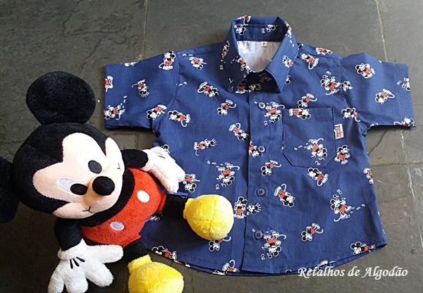 camisa infantil mickey