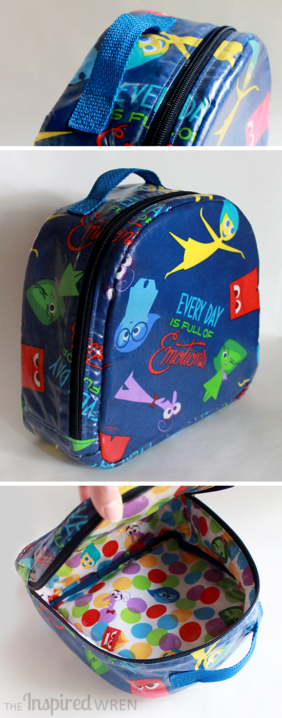 "Love how this came out! | Lunch Box/Bag sewn in Laminated ""Inside Out"" Cotton 
