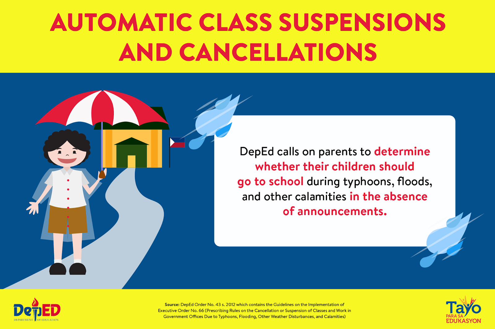automatic class suspension guideline by DepEd 2018