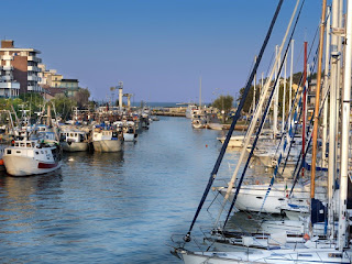 The harbour area at Bellaria-Igea Marina