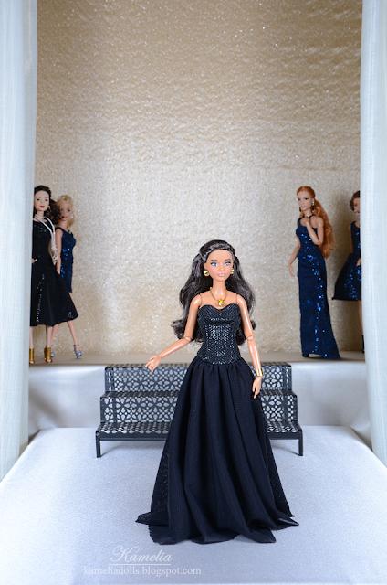 Evening dresses for Barbie dolls