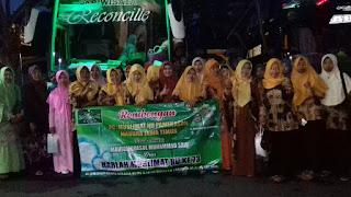 6 Bus Rombongan Muslimat NU Pamekasan Berangkat ke GBK