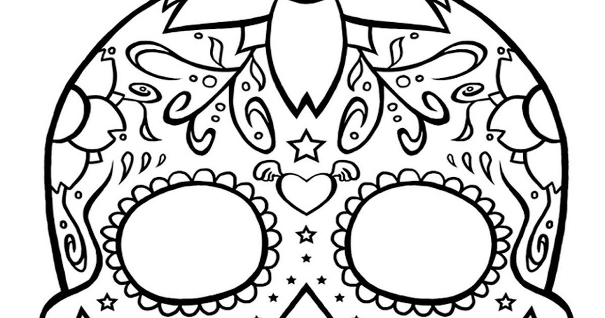 Pinto Dibujos: Mascara Del Día De Muertos