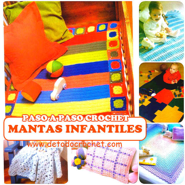 6 modelos de mantas y mantillas ganchillo para bebe
