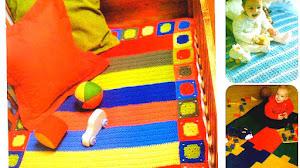 6 Mantas Infantiles al Crochet / Moldes y paso a paso