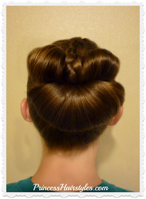 Easy messy bun tutorial. Braided bow fan bun