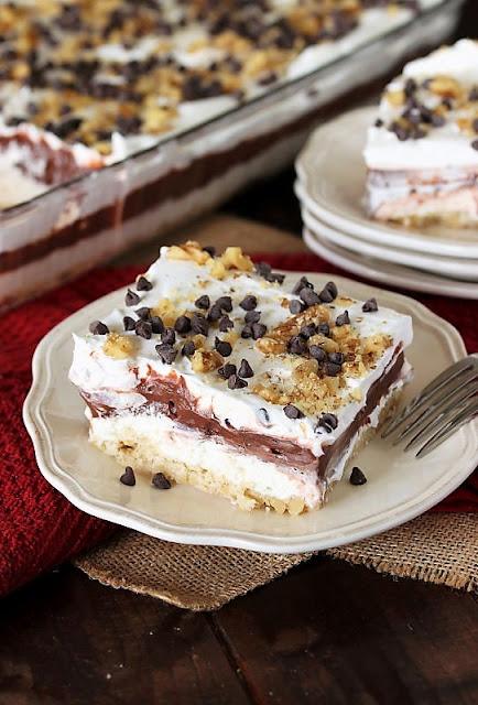 Slice of Chocolate Lush Dessert Image
