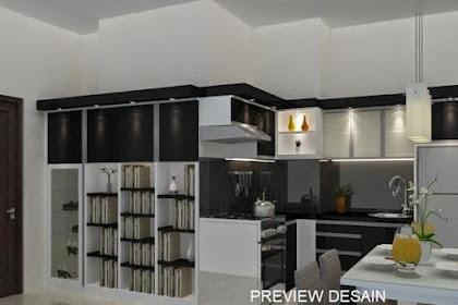 Jasa gambar 3d kitchenset dapur meja makan kulkas rak serbaguna