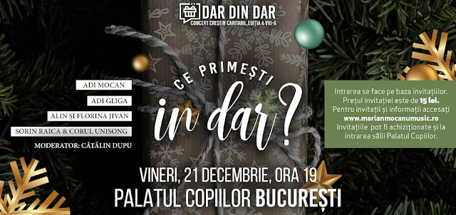 """Concert Creștin Caritabil """"DAR DIN DAR"""" la Palatul Copiilor București"""