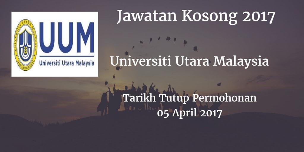 Jawatan Kosong UUM 05 April 2017