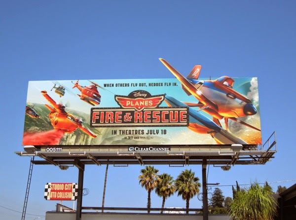Disney Planes Fire Rescue special extension billboard