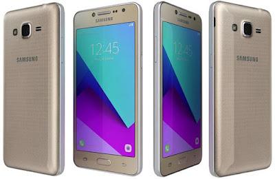 Spesifikasi  Samsung Galaxy J2 Prime    Samsung Galaxy J2 Prime ini mengusung versis android Marsmellow 6.0.1, jadi bisa anda lihat sendiri user interface nya sperti pada gambar di atas terlihat simple dan berwarna flat tanpa adanya fitur untuk mengubah tema seperti pada kakaknya J2 bianya mungkin ini sebuah penurunan pada software, Seperti biasanya seperti Samsung lainnya yang mengusung TouchWizh, kita disambut dengan user interface yang hampir mirip pada stock android, jadi tidaka akan serumit pada MIUI pada Xiaomi.      Untuk urusan performa smartphone ini ditenagai dengan prosesor dengan clock speed quardcoer 1.4Ghz dan ditunjang dengan Ram sebesar 1.5Gb jadi bisa dibayangkan performanya seperti apa, padahal untuk smartphone dengan harga 1,7juta dengan merk lain , kalian bisa mendapatkan Ram 2Gb. Berikut hasil antutu Benchmark dari Samsung Galaxy J2 prime.     masih sama dengan saudara tuanya Samsung Galaxy Grand Prime kameranya sama-sama dengan mengusung besaran 8 megapixel dengan flash dan auto fokus, dan kamera depan sebesar 5 megapixel dengan flash, yang membedakan dengan saudara tuanya hanya pada flash kamera depannya. saya tidak bisa memberi perbandingan antara kedua smartphone ini karena hanya memegang Samsung galaxy J2 Prime saja. Kamera smartphone ini mengusung bukaan lensa f/2.8 jadi secara tidak langsung kualitasnya akan sedikit mengecewakan pada kondisi low light dengan perekaman video Full Hd. untuk kamera depannya menggunakan bukaan lensa sebesar f/2.4 juga dan bisa diajak selfie dengan bagus dan juga dapat merekam video HD.      Kelebihan