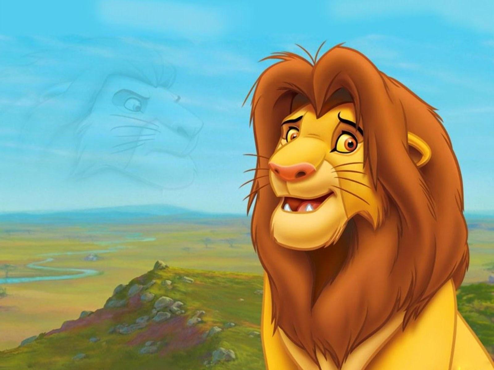 kartun gambar singa