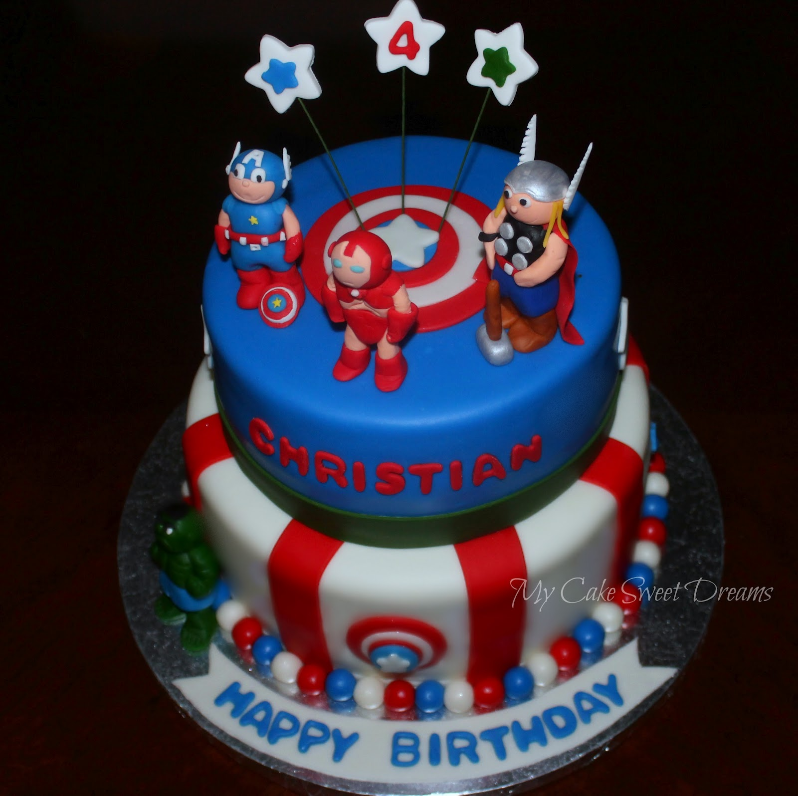 Avengers Birthday Cake Design :