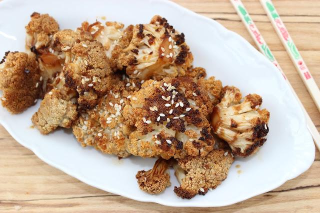 spicy sesame cauliflower wings