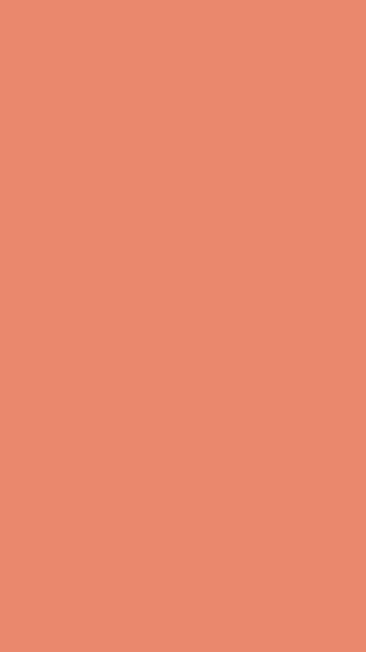 Salmon Orange Wallpaper For IPhone Solid Color