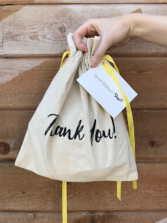 Send ribbon premade gift bags
