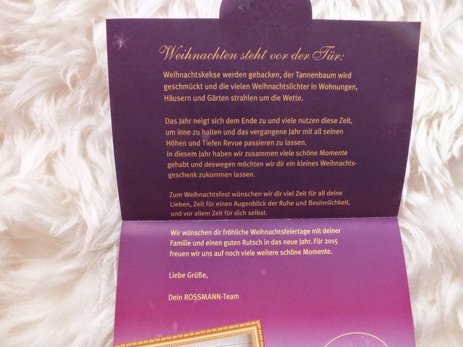 Julchens rosa Traumwelt: Bloggeraktion: Rossmann Weihnachtsbox
