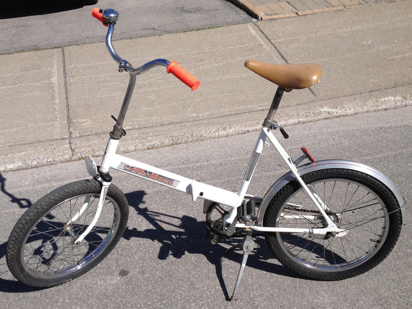art of makenoize vintage junior auto mini folding bike. Black Bedroom Furniture Sets. Home Design Ideas