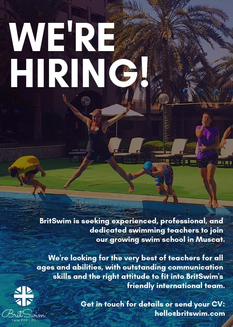 swimming teacher job Muscat Oman Gulf BritSwim hiring