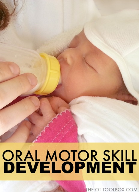 Use this guide on development of oral motor skills to address oral motor skill therapy and as a guideline to develop oral motor exercises in oral motor therapy.