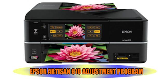 EPSON ARTISAN 810 ADJUSTMENT PROGRAM