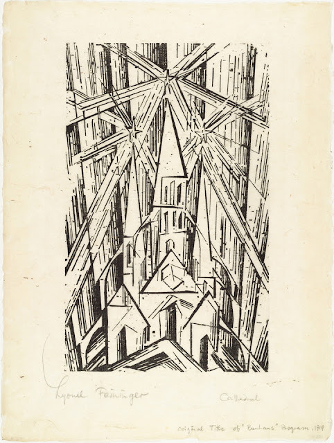 Lyonel Feninger: Cathedral for Program of the State Bauhaus in Weimar (1919)