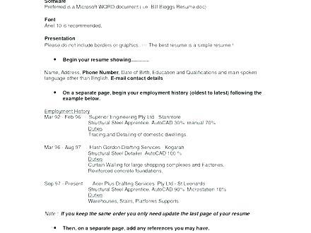 Apa Resume Format Sample Resume Templates
