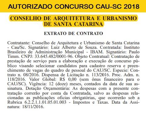 CAUSC define empresa para organizar Concurso Público 2018