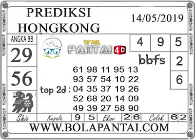 """Prediksi Togel """"HONGKONG"""" PANTAI4D 13 MEI 2019"""