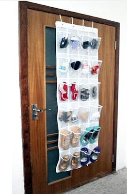 Model Rak Sepatu Gantung Di Belakan Pintu Berbahan Vinyl