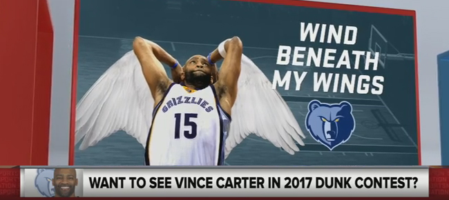 Will Vince Carter Compete in the 2017 NBA Slam Dunk Contest? (VIDEO)