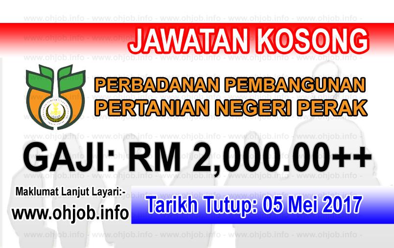 Jawatan Kerja Kosong PPPNP - Perbadanan Pembangunan Pertanian Negeri Perak logo www.ohjob.info mei 2017