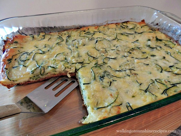 Zucchini Pie sliced from Walking on Sunshine