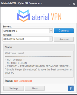 Material Vpn for PC Screenshot 4