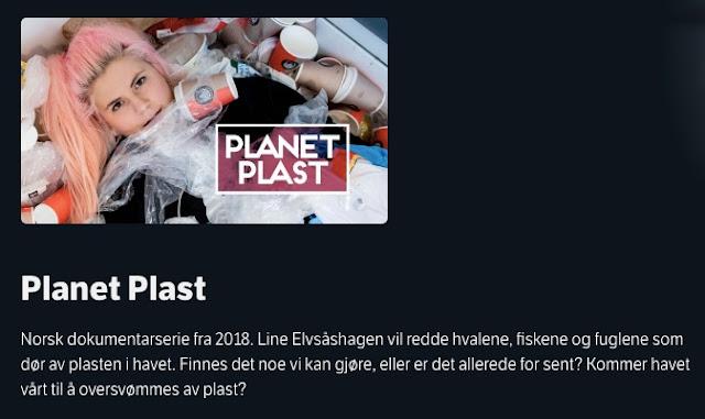 Planet Plast på NRK med Line Elvsåshagen.  Foto: skjermdump (NRK TV)