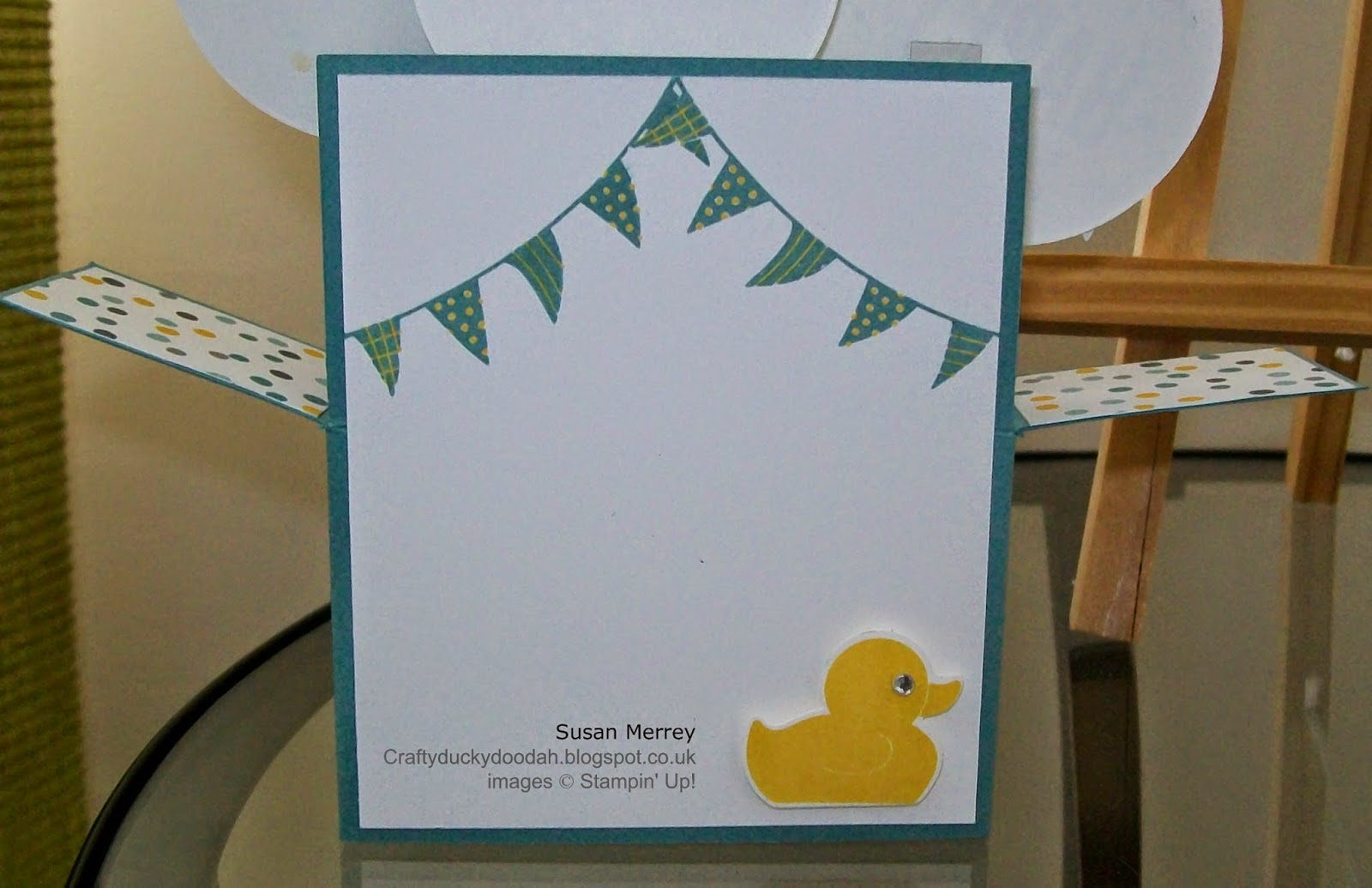 Stampin' Up! Independent Stampin' Up! Demonstrator Craftyduckydoodah made by Susan Merrey Celebrate Today Something For Baby