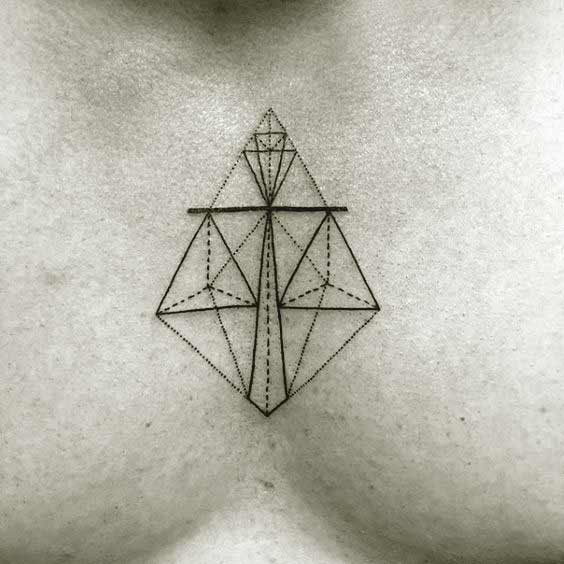 best libra tattoos on chest for men