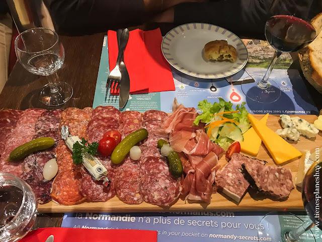 COmer cenar recomendable Bayeux viaje Normandia gastronomía
