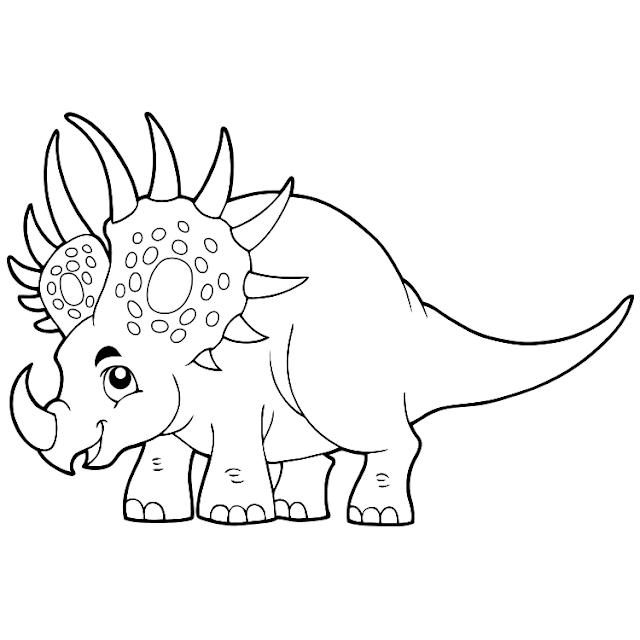 aneka mewarnai gambar dinosaurus 8