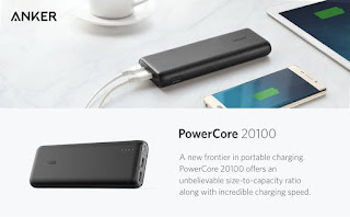 High speed charging, long lasting, portable Power bank Anker PowerCore 20100 £21.74 Anker PowerCore 20100 – Ultra High Capacity Power Bank Most Powerful 4.8A Output, PowerIQ Technology for iPhone, iPad and Samsung Galaxy and More (Black) Deals (now) £21.74 & FREE Delivery in the UK Deal end 23:59 Monday, 6 March 2017 (GMT)