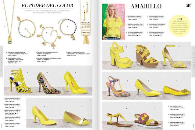 zapatos amarillo andrea
