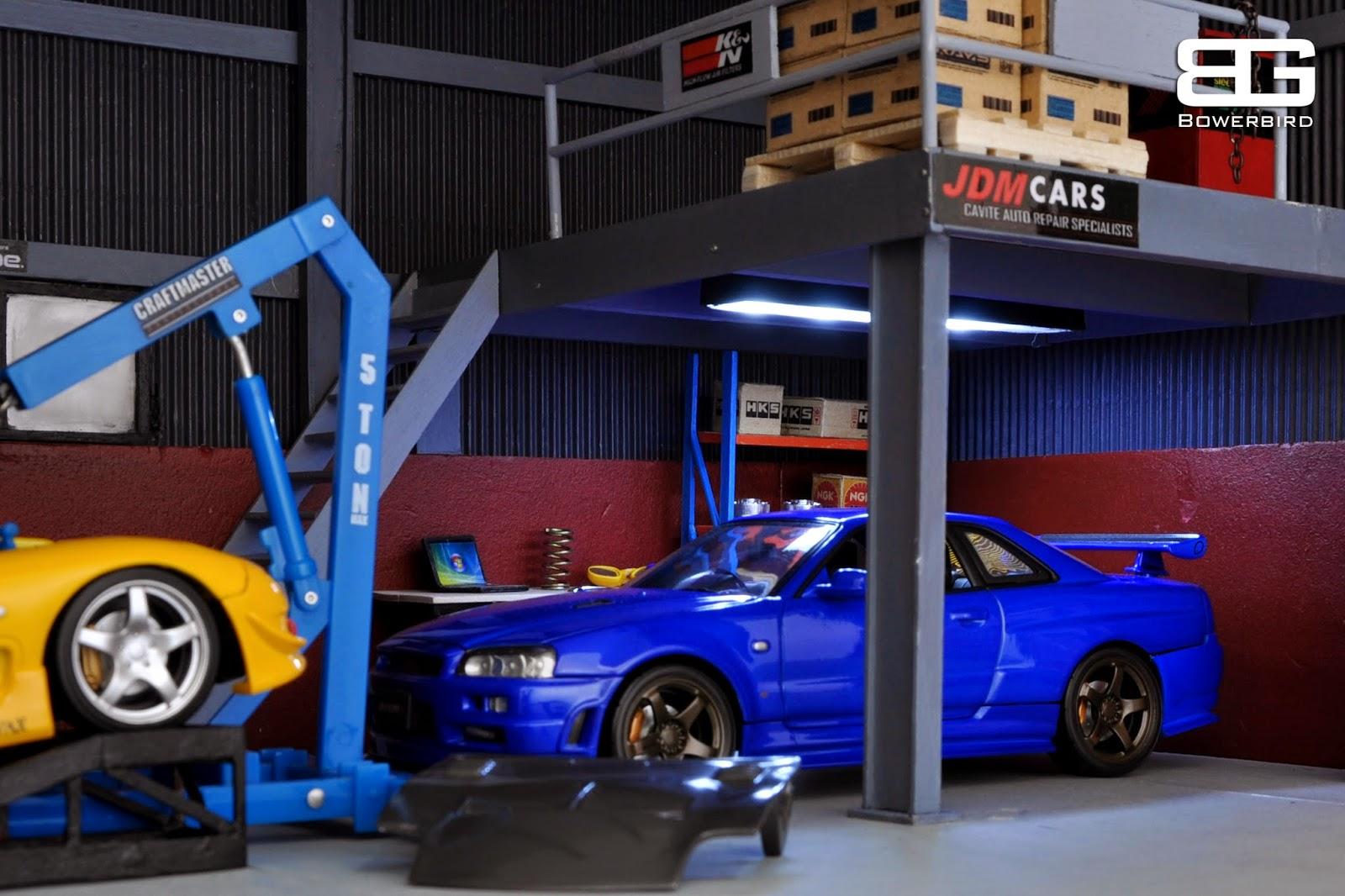 Bowerbird Garage Diorama Bowerbird Garage Jdm Cars