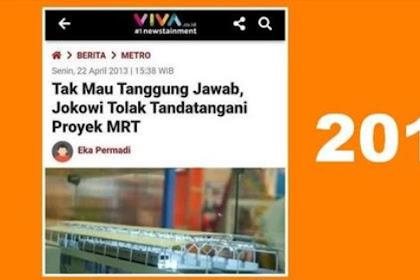 [2013] Tak Mau Tanggung Jawab, Jokowi Tolak Tandatangani Proyek MRT