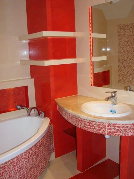 Diseos de baos en color rojo  Colores en Casa