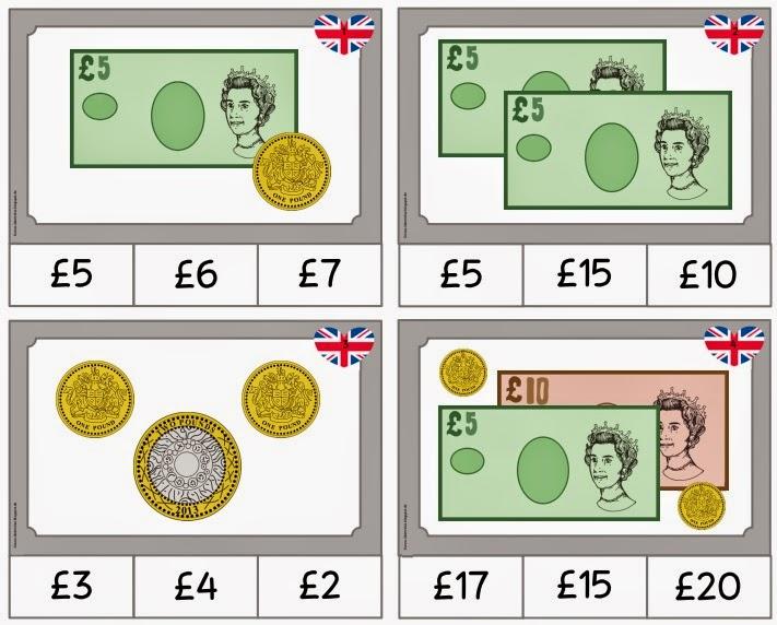 ideenreise miniklammerkarten british money. Black Bedroom Furniture Sets. Home Design Ideas